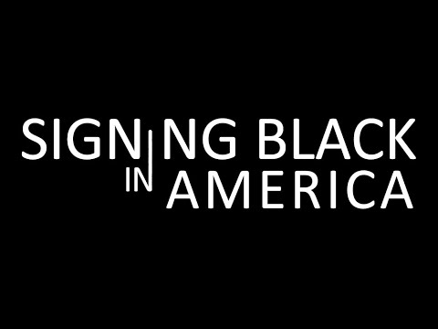 Signing Black in America graphic.